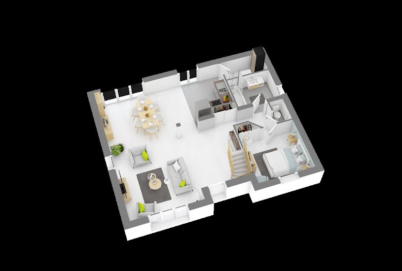 Vente Terrain + Maison - Terrain : 500m² - Maison : 110m² à Margny-lès-Compiègne (60280)