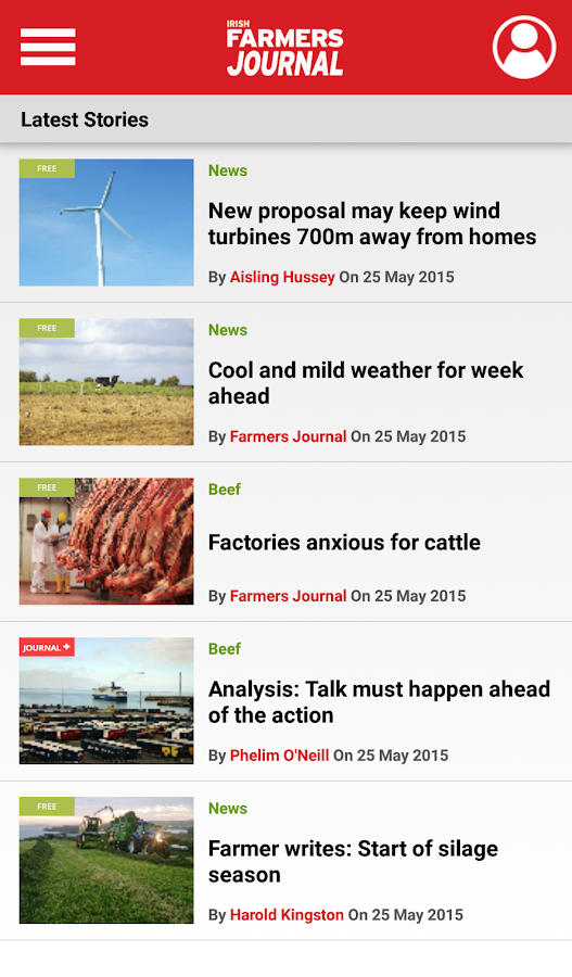 Farmers Journal- screenshot