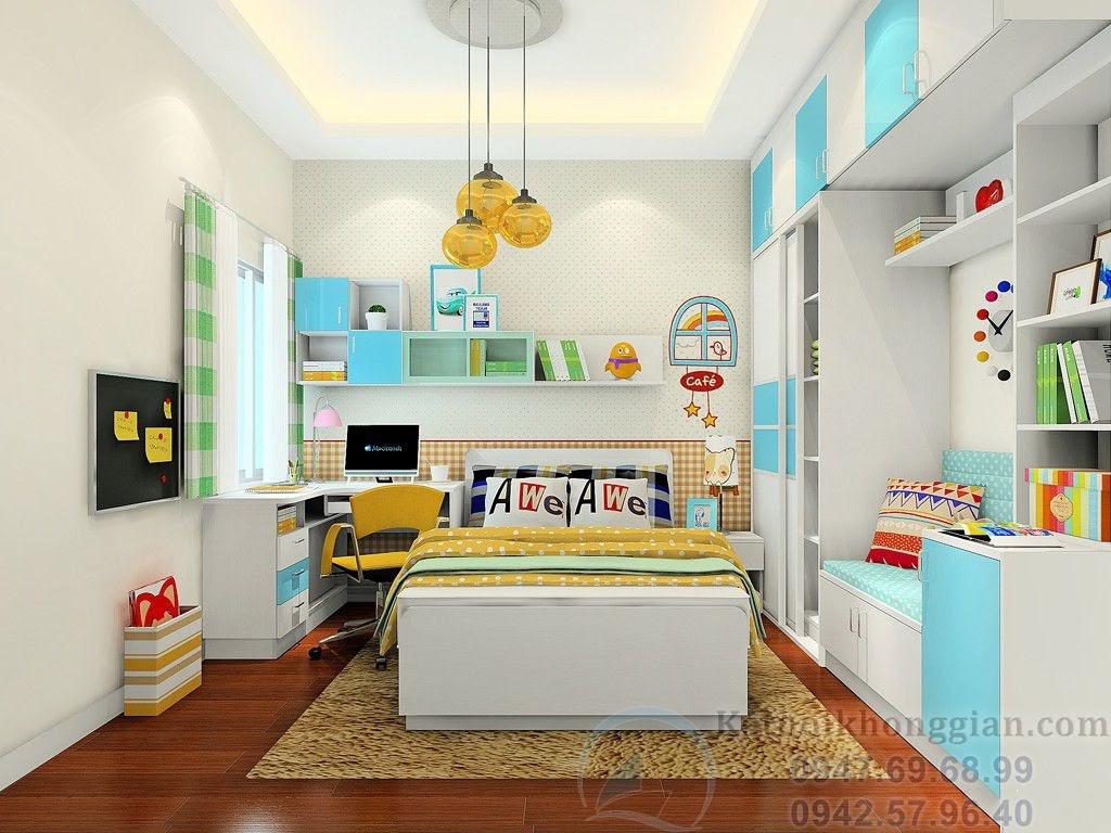 thiết kế phòng ngủ bé trai vui nhộn