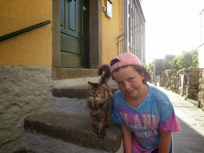 Photo: We made it to Volastra which is a smaller village between the two towns and Julia found a little friend