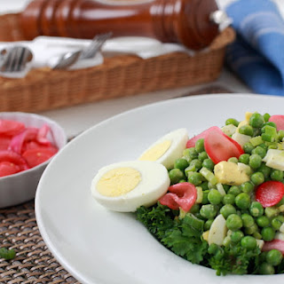 Crisp Pea Salad w/ Pickled Radish