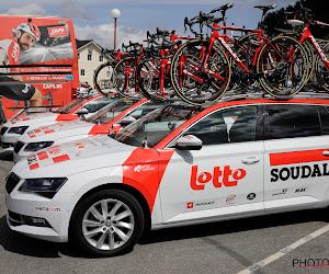 📷 La voiture de Lotto-Soudal change d'apparence en hommage à Bjorg Lambrecht