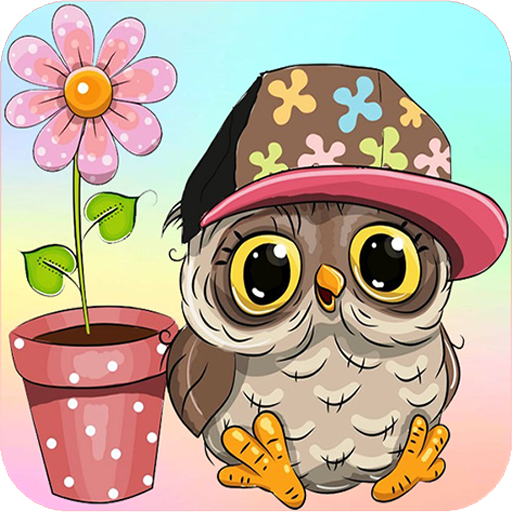 Owl kawaii wallpapers - Cute backgrounds images - Icon