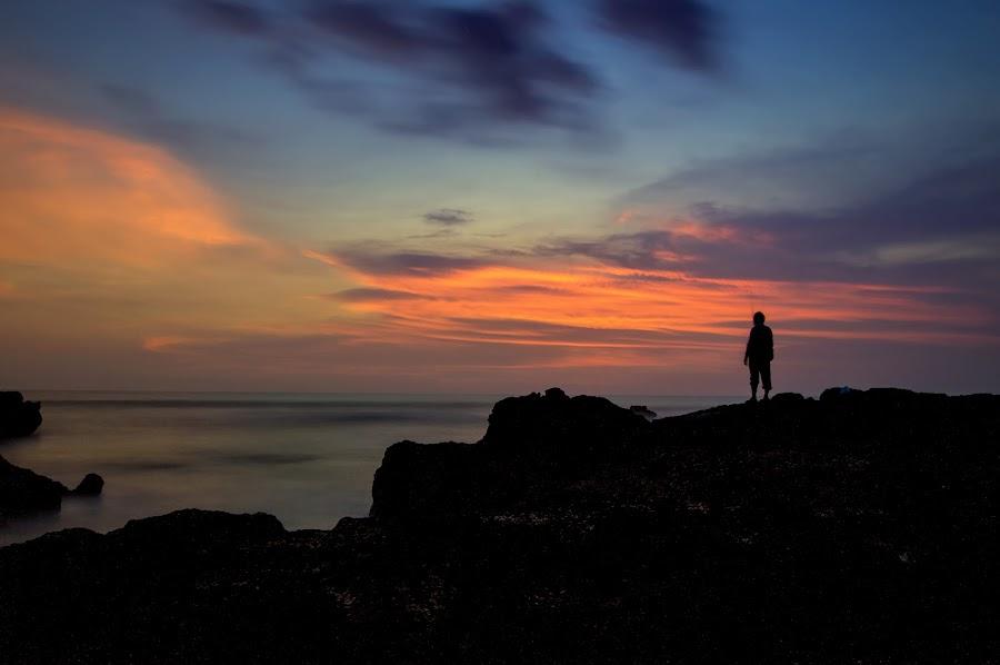 Against the Sunset by Rizki Mahendra - Landscapes Sunsets & Sunrises