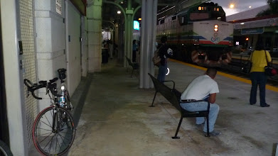 Photo: Early morning at TriRail station in Lake Worth
