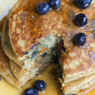 Blueberry Oatmeal Pancakes.