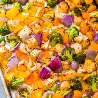 Sheet Pan Skinny Lemon Pepper Chicken and Vegetables.