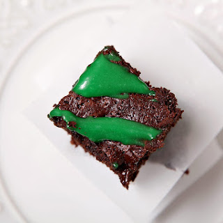 Guinness Brownies with Cream Cheese Frosting Drizzle.