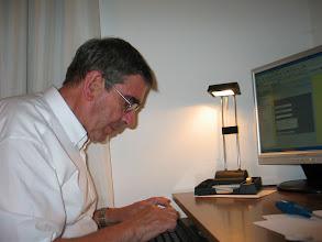 Photo: Pablo Huarte aprendiendo a utilizar el blog.