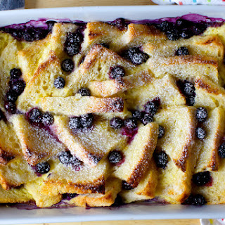 Blueberry Bread and Butter Pudding.