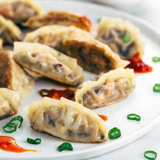 Crispy Vegetable Tofu Dumplings.