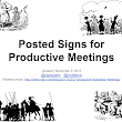 Posted Signs for Productive Meetings