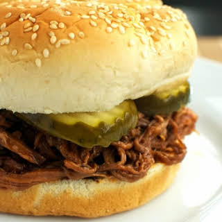 Crock Pot Pulled Barbecue Beef Sandwiches.