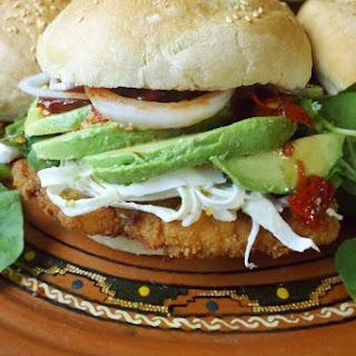 Cemita Poblana (Chicken Milanesa Sandwich).