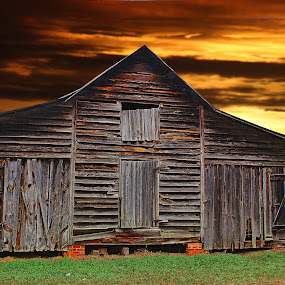 Barn by JEFFREY LORBER - Buildings & Architecture Decaying & Abandoned ( barn, sunset, old structure, decay, lorberphoto, abandoned )