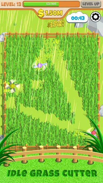 Idle Grass Cutter Android App Screenshot