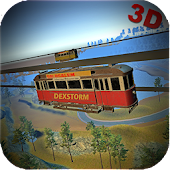 Real Sky Tram Cable Car Driving: Tourist Simulator