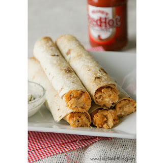 Baked Buffalo Chicken Taquitos