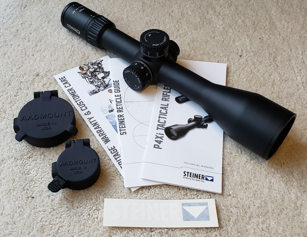 Steiner P4Xi 4-16x56, Aadmount Lens Caps, Magpul Bipod, BCM