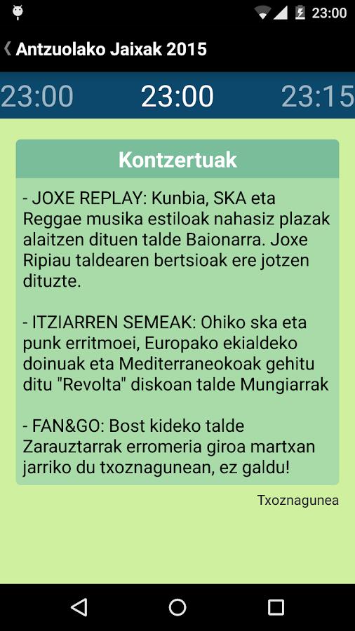 Antzuolako Jaixak - screenshot