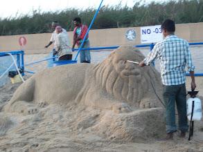 Photo: Sand art at the beach...