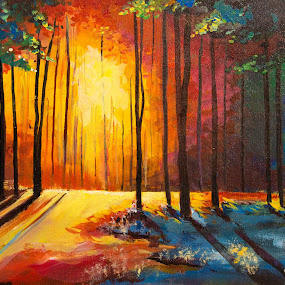 forest by Nikhilesh Shaw - Painting All Painting