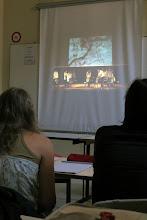 Photo: © Olivier Perrot Projection du film de la performance Juin 2011