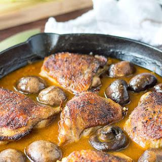 Garlic Golden Mushroom Chicken.
