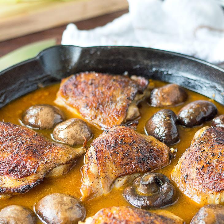 Garlic Golden Mushroom Chicken Recipe
