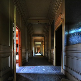 Hallway  by Richard Huntjens - Buildings & Architecture Other Interior ( building, urbex, hallway, abandoned, decay )