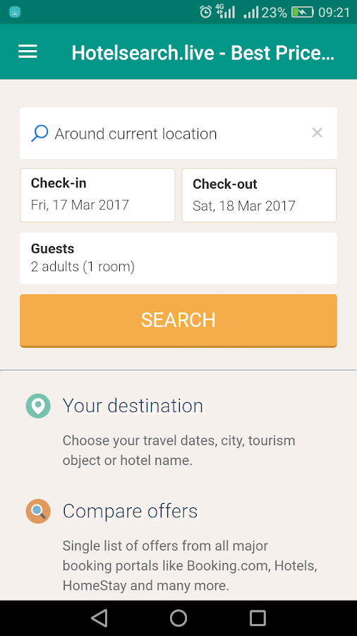 Hotel Search Live- screenshot
