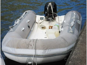 Photo: White and grey dinghy cover, looks nice....