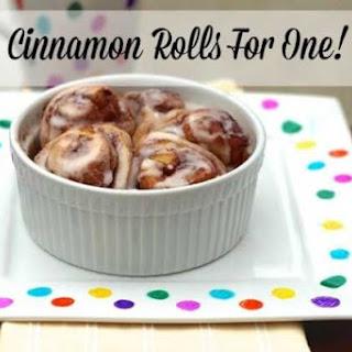 Cinnamon Rolls For One!
