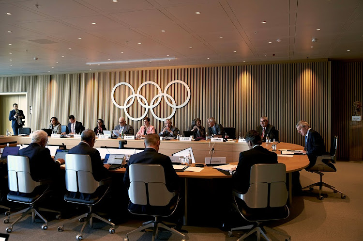 Thomas Bach, President of the International Olympic Committee (IOC) opens an Executive Board meeting in Lausanne, Switzerland, March 3, 2020.