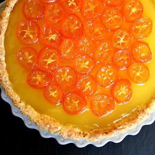 Meyer Lemon Tart with Candied Kumquats