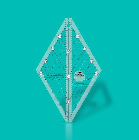 Creative Grids 60° Diamond Ruler Mini från Krista Moser (16572)