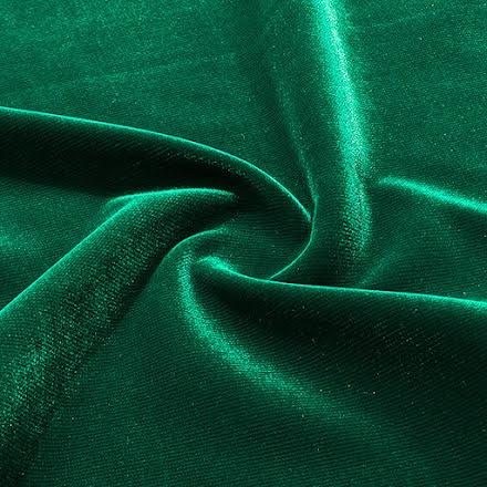 Trevira Sammet - Smaragdgrön