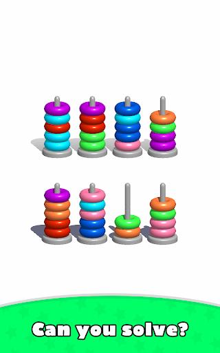Sort Hoop Stack Color - 3D Color Sort Puzzle android2mod screenshots 13