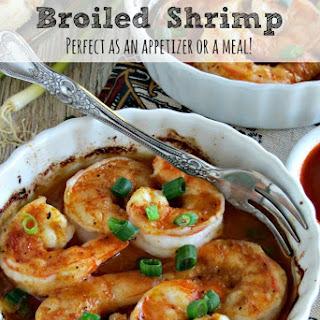 Broiled Garlic Shrimp with Sriracha Sauce.