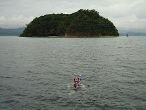 Photo: Tony snorkeling off of Sand Island, Palawan, Philippines.