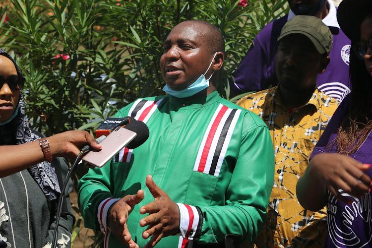 Nominated MP David ole Sankok at Swahilipot in Mombasa on Saturday.