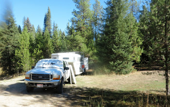 Photo: camping north of the road