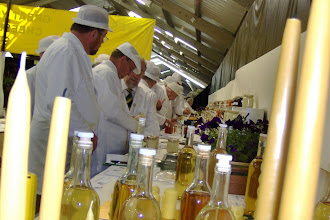 Photo: Candles, mead, stewards and judges.