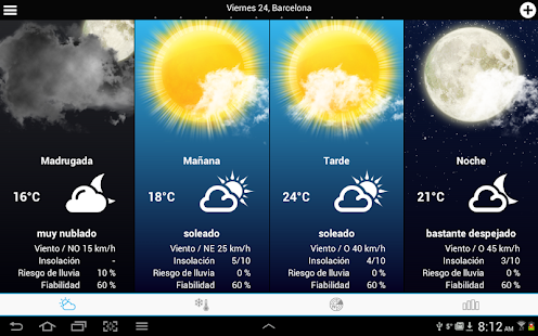 Weather for Spain - screenshot thumbnail
