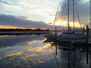 Photo: Sunset view from Beaufort waterfront Photo courtesy Alison Brooks - Handscapes Gallery