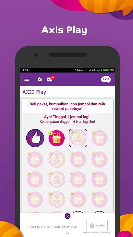 Screenshots of AXIS net for iPhone