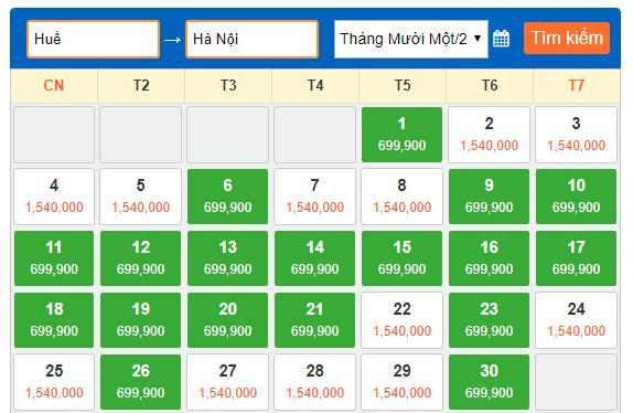 Vé máy bay đi Hà Nội từ Huế