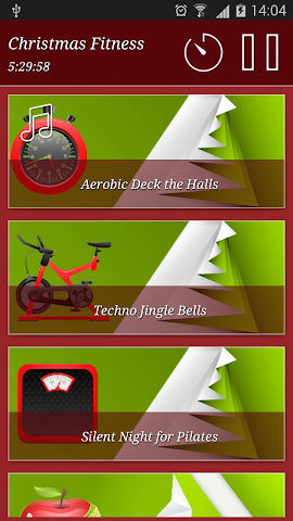 android Christmas Fitness Holidays Screenshot 2
