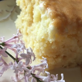 Tres Leches Cake with Dulce De Leche Glaze.