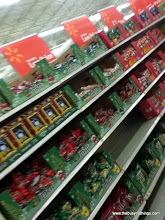 Photo: She was SO disappointed! Only November 2nd, and the Halloween Candy aisle had already been discounted, sold out and replaced with Christmas candy!